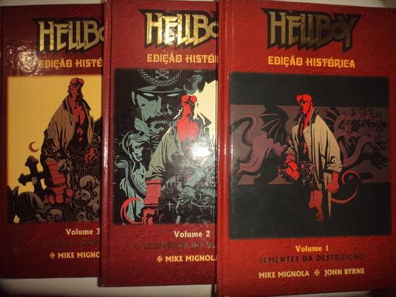 Hellboy Edicao Historica 1 2 3 Capa Dura Mythos Otimos