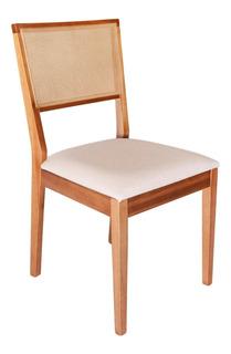 Cadeira Madeira Com Tela Sling Para Mesa Jantar Cozinha