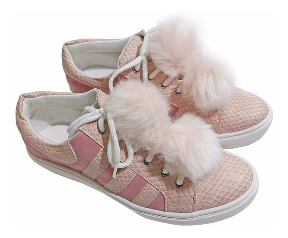 Zapatillas Urbanas Mujer Rosa Pompom- Calzados Union