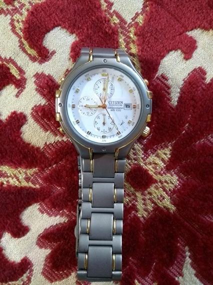 Relógio Citizen Titanium E Ouro