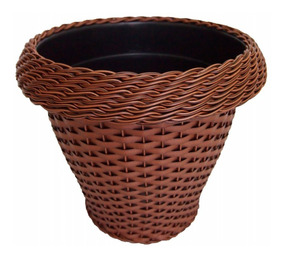 Vaso De Planta Flor Sintético Redondo 37x21x31