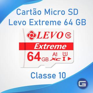 Cartão De Memória Micro Sd 64 Gb Classe 10 Levo Extreme