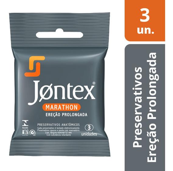 Preservativo Jontex Marathon C/ 3 Camisinhas