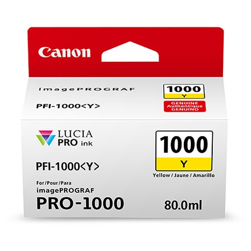 Tinta Canon Pfi-1000 Y Lucia Pro Yellow Ink Tank 80ml