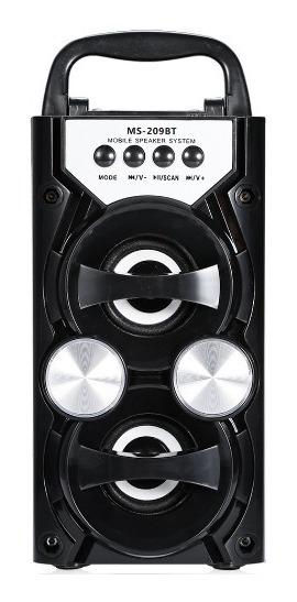 Mini Bocina Amplificada 10w Bluetooth Radio Usb Aux Recarg