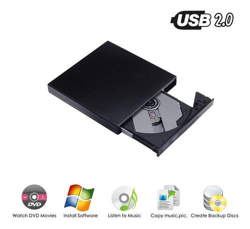 Unidad Quemador De Cd Lector Dvd Externa Usb 2.0 Ultra Slim