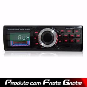 Rádio Ap- 6209 - Mp3/wma/wav, Usb, Sd, Fm C/ Controle Remoto