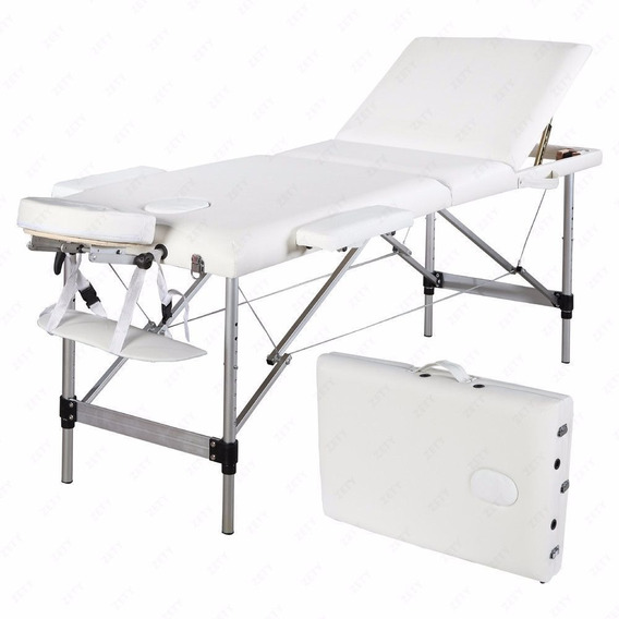 Promoción! Cama Aluminio Reclinable Plegable Masajes Spa