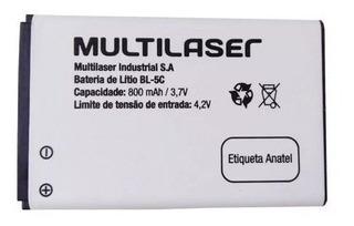 Bateria De Lítio Bl-5c 800mah 3,7v Bt003 Original Multilaser