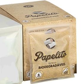 Caixa Filtro Cigarro Papelito Biodegradável 10 Pacote C/ 120