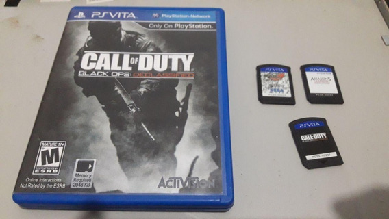 3 Jogos Ps Vita Call Of Duty, Virtual Tennis 4 E Assassins