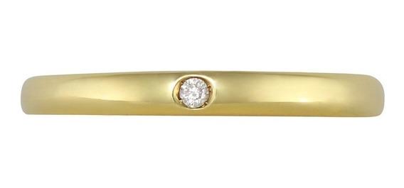 Anillo De Oro 18 K Diamante Redondo 0.02q - 4118/am Ghiberti