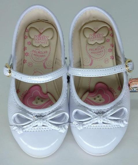 Sapatilha Bailarina Kidy Baby 015-0289-0004 Branco 16 Ao 22