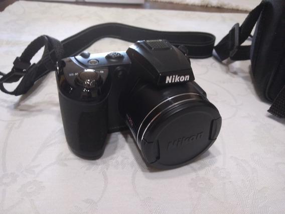 Câmera Nikon L320 Com Cartão De Memória 4 Gb E Case