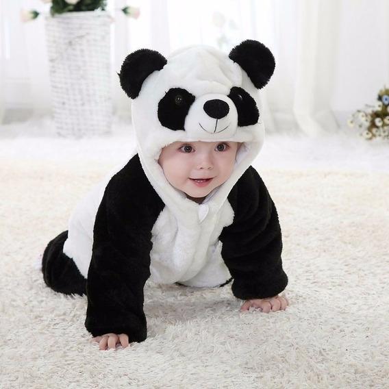 Macacão Infantil Panda Bichinho Estilo Parmalat Quente