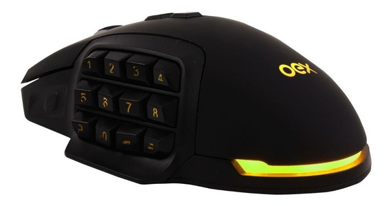 Mouse Gamer Shadow Ms314 10000dpi, Macro, Ajuste De Peso Oex