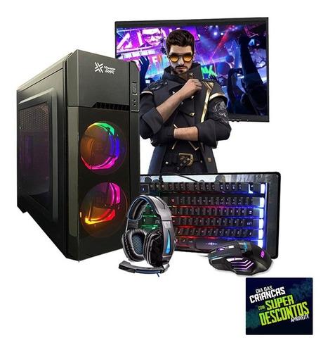 Pc Gamer Completo Hércules Intel Gpu R7 240 8gb Hd 500gb