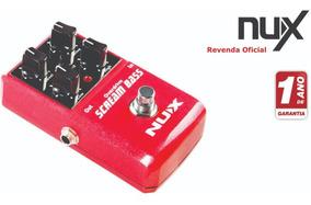 Pedal Nux Scream Bass Overdrive + Nf 1 Ano Garantia