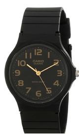 Relógio Feminino Casio Preto Dourado Retro Quartz