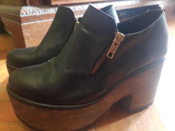 Zapatos De Cuero Negros