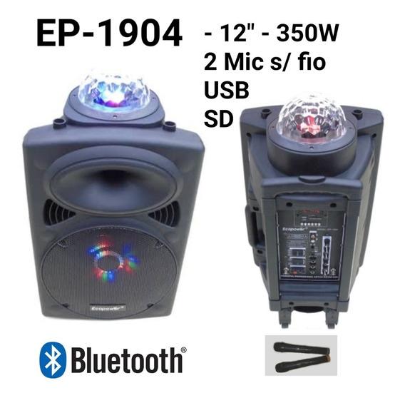 Caixa De Som Ecopower Ep 1904 - Bluetooth Fal 12