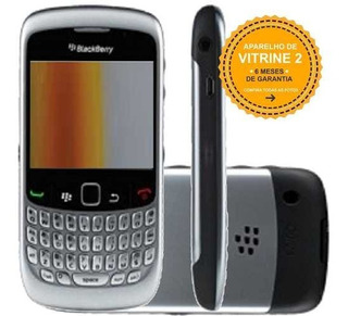 Blackberry Curve 8520 256mb Single 2g 2mp Prata Vitrine 2