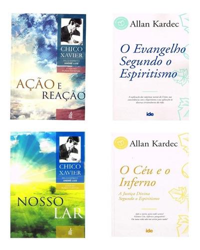 Livros : Ação E Reação , Nosso Lar , Evangelho , O Ceu E ...