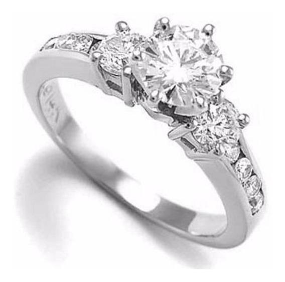 Anillo Compromiso Oro 18k Diamante .94ct Totales Gh Vs
