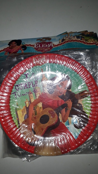 Elena De Avalor ! Platos Descartables Por 8 Unidades