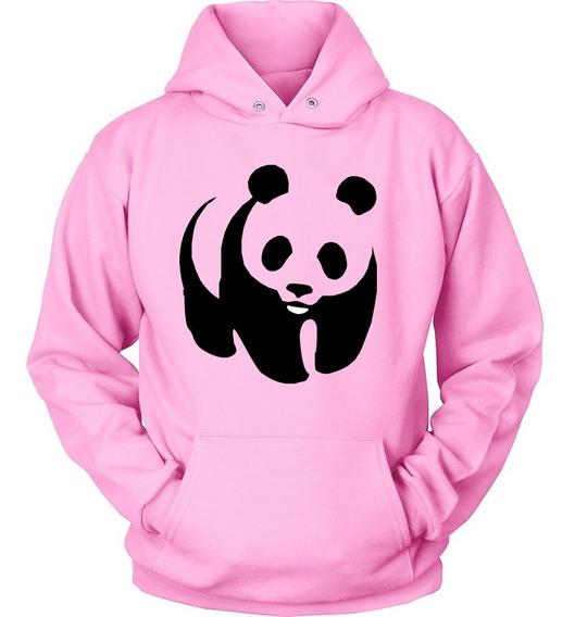 Blusa Moletom Urso Panda Beer Unissex Canguru Bolso Capuz