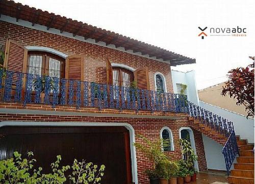 Casa Com 3 Dormitórios À Venda, 187 M² Por R$ 760.000,00 - Vila Curuçá - Santo André/sp - Ca0136