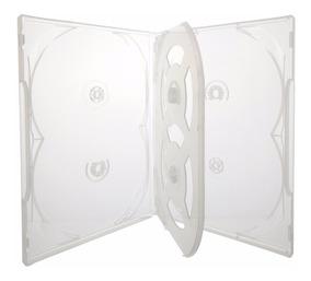 Box Case Estojo P/ 6 Dvd Transparente Amaray 10 Peças