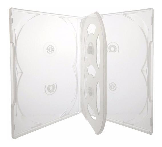 10 Box Caixa Capa Estojo P/ 60 Dvds Transparente Sony Oferta