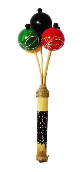 Chocalho Colorido Instrumento Musical Xamanico Indigena