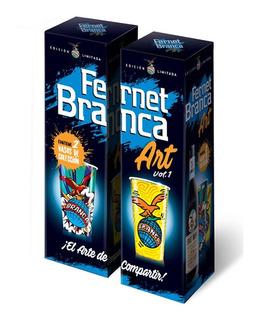 2 Fernet Branca 750ml + 4 Vasos Branca Art Vol. 1 De Regalo