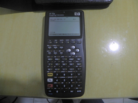 Calculadora Hp 50g Com Capa De Couro