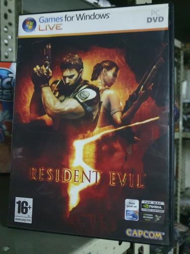 Resident Evil 5 Pc Fisico Nuevo Sellado Castellano Abasto