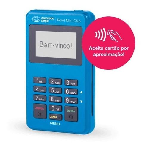 Imagem 1 de 1 de Maquininha Com Chip Passa Cartão  Mini Point Maquina Credito