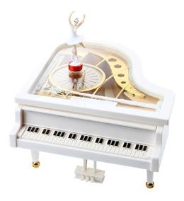 Caixinha Caixa De Música E Porta Jóias Piano Com Bailarina