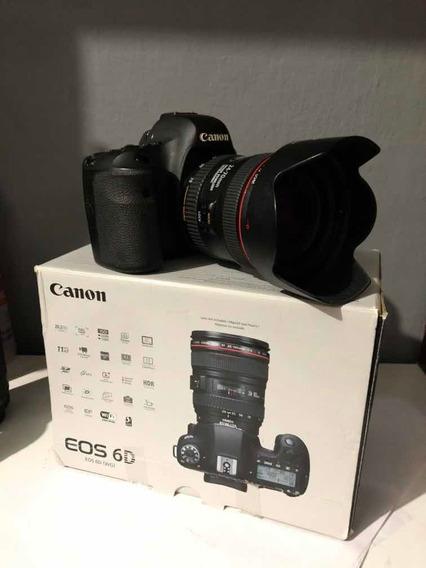 Canon 6d Completa Lente 24-70mm(leia Descrição)