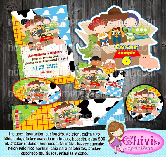 Kit Imprimible Toy Story Chivis
