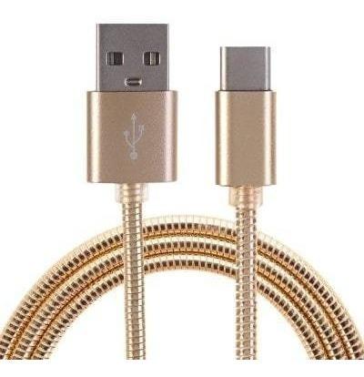 Cable Usb A Usb Tipo C Dorado Mallado Carga Rapida 1.5mts
