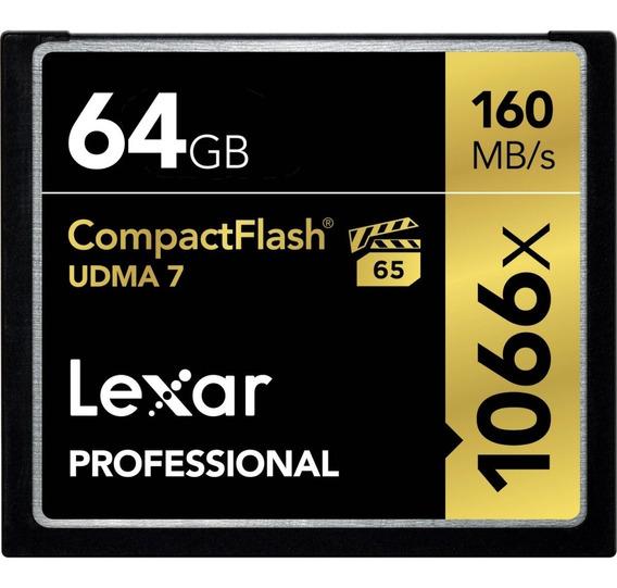 Cartão Compact Flash Lexar 64gb 160mbs Original C/ Embalagem