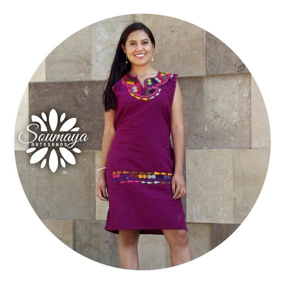 Vestido Artesanal Chiapas Cadenilla Bordado