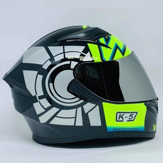 Capacete Valentino Rossi K5 Modelo Novo Japonês Pista Mugelo