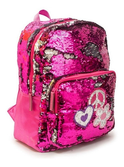 Mochila Grande Sequins Backup Fun 51196