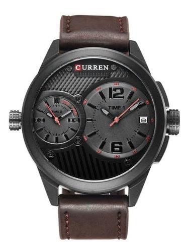 Relógios Masculinos Pulseira De Couro Marrom 8249 Promoção