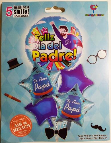 Set De 5 Globos Día Del Padre - Feliz Día Papa