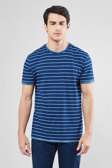 Camiseta Imp. Indigo Listra Reserva