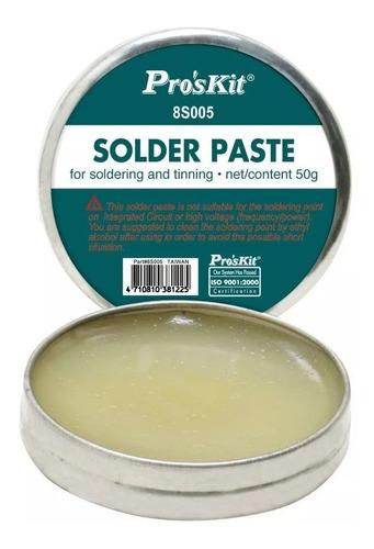 Imagen 1 de 4 de Pasta Para Soldar Proskit 8s005 Sin Plomo No Ataca Plasticos